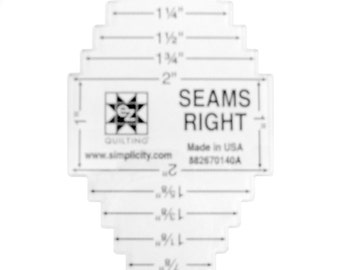 Seams Right Acrylic Quilting Template