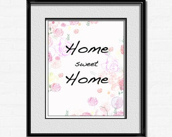 Home Sweet Home Wall Art sweet home wall art | etsy