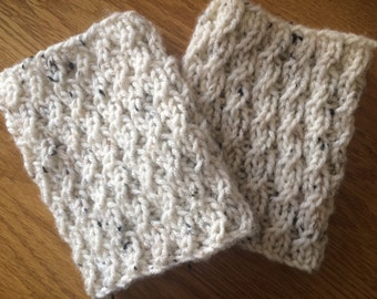 Boot cuffs - knitted