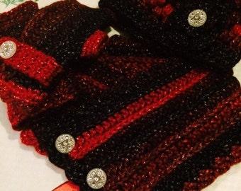 3 piece crochet set (ladies)