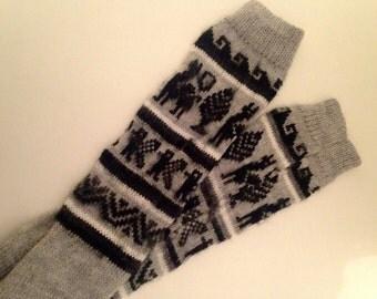 Alpaca knee-length socks