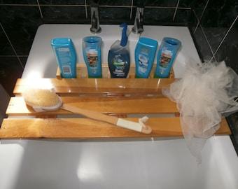 Wooden Bath Tray and Caddy Bathroom Products Organiser