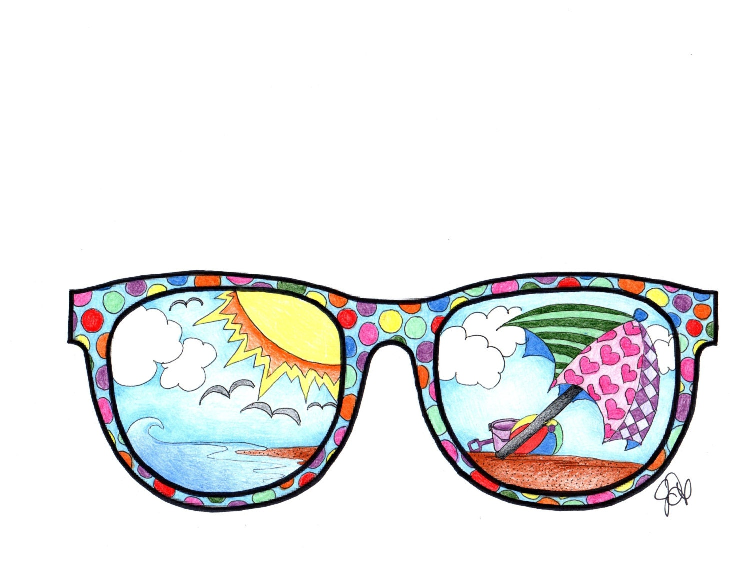 coloring pages sunglasses - photo#15