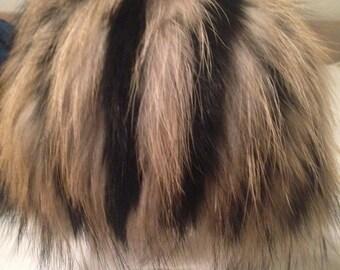 Raccoon/Fox fur Wig Hat-Unique