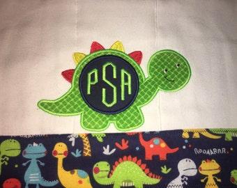 Dinosaur Burp Cloth Personalized