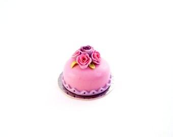 Pink Pastel Cake 1/12 scale Dollhouse Miniature
