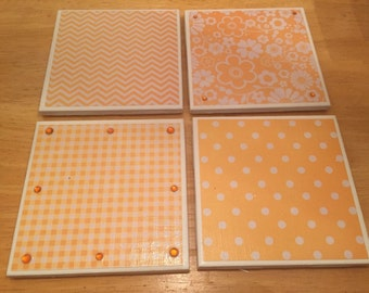 Bling coasters-  yellow