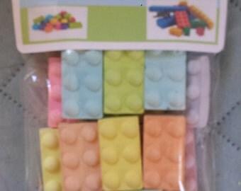 Lego bricks sidewalk chalk set of 20 pieces