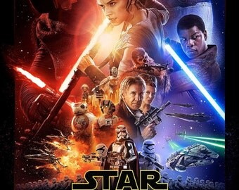 Star Wars The Force Awakens Giclee Print Movie Poster FREE SHIPPING