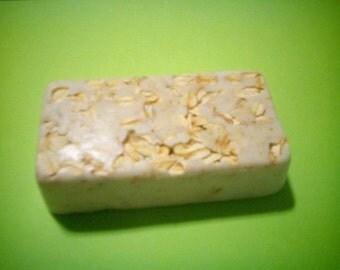 Homemade Lemon-Verbena Oatmeal Goats Milk Soap