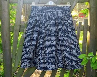 Handmade  Inspirational Words Skirt