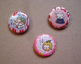 Nyan Nyan Nyanko Neko San-X 1 Inch Buttons