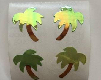 Vintage Pearl Sandylion Palm Tree Stickers