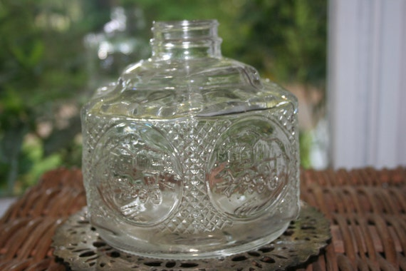 Glass Lamp Bases South Africa: Glass Oil Lamp Base By Lamplight Farms 1970's Farm Oil