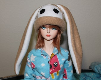 SD BJD Fleece Anime Hat Long Ear Rabbit