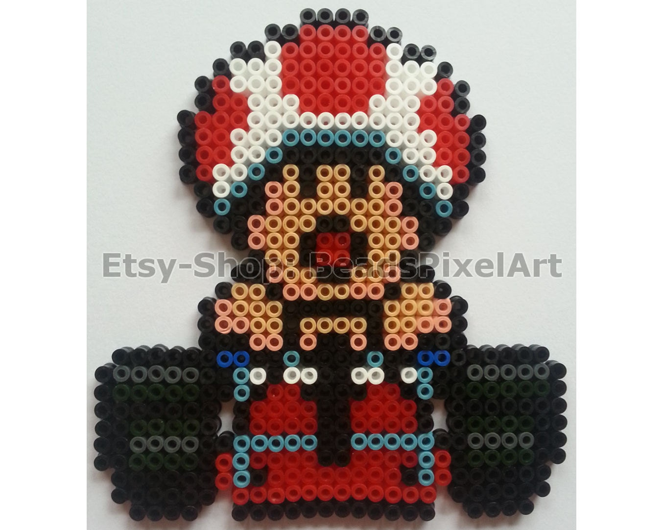 super mario kart toad im kart aus b gelperlen perler. Black Bedroom Furniture Sets. Home Design Ideas