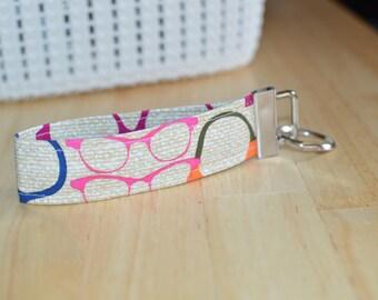 Wristlet Keychain, Glasses Keyfob, Fun and Funky Key Holder