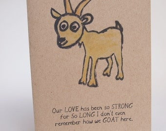 Greeting Card - Goat