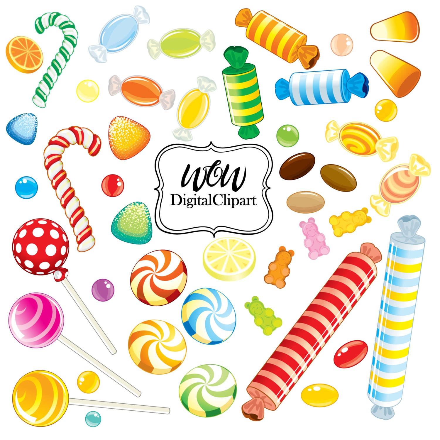 lollipops clipart rainbow candy clipart sweet shop candy