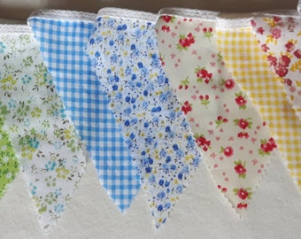 Multi Colour Floral & Gingham Bunting