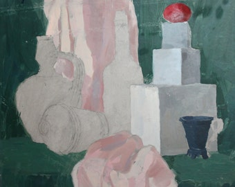Modernist still life oil painting