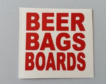 CORNHOLE Beer Bags Boards Vinyl Decal . Free Shipping Window Car Laptop Wine Glass Coffee Beer Mug Frame Sports Bottle Organizer Sticker