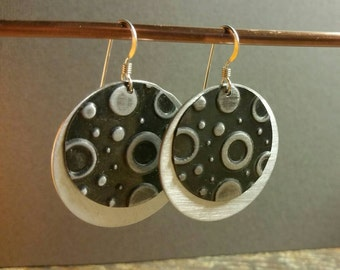Embossed Metalwork Earrings