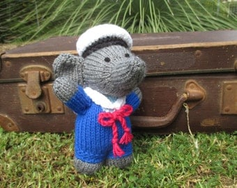 Kyle the Sailor Elephant: Hand knitted toy