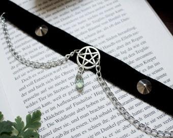 Black Velvet Pentagram Choker