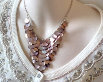 Copper V of Discs Necklace