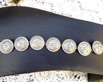 Vintage casted Aluminium Bracelet