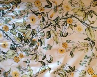 Retro Vintage Floral Curtains - 1970s