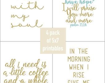 4 pack of 5x7 Inspirational Printables