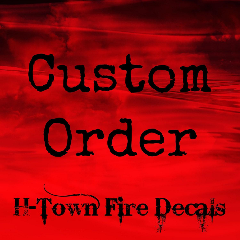 Custom Order Fire Helmet DecalSticker Reflective - Custom reflective helmet decals stickers