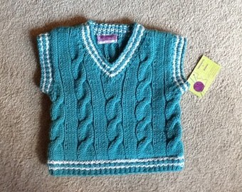 Tennis Sweater vest for a boy or girl in size 2T