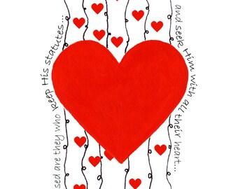 Heart Card Series - Waterfall