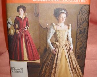 Misses' Elizabethan Dress Costume - Tudor Gown - Larp / Ren Faire - Simplicity Sewing Pattern 3782 by Andrea Schewe - Sizes 6 - 12