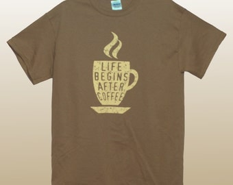 Coffee AM T-Shirt Chestnut