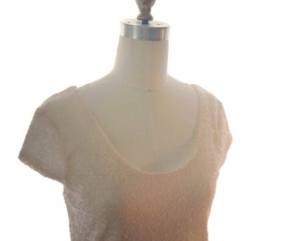 Cap Sleeve Sparkle Top - Sequin Top, Bridesmaid, Wedding, Shower, Engagement, Special Occasion, Bridal Separates