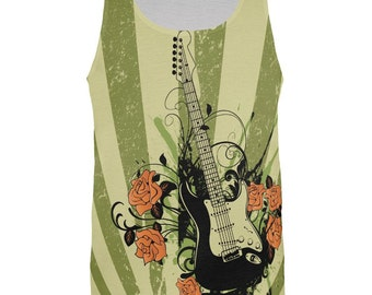 Stratocaster All Over Adult Tank Top