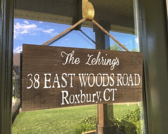 Address sign/last name/our first home/housewarming gift/pallet sign
