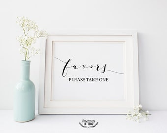 Favors Please Take One, Favors Sign, Favors Printable, Wedding Favors Printable, Wedding Favors Print, 8x10 Printable, Instant Download