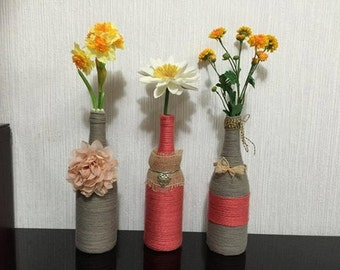 hand decorated vases /candle holders