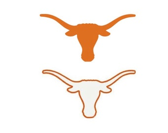 """UT Longhorn Inspired Embroidery file in 4 sizes (2"""", 3"""", 4"""" & 5"""") in multiple file formats - INSTANT DONWLOAD - item #4007"""