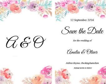 SALE - Downloadable save the date invite