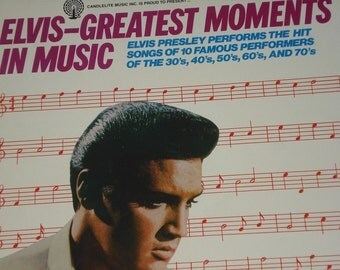 Elvis Presley vinyl record, Elvis-Greatest Moments In Music vintage vinyl record album