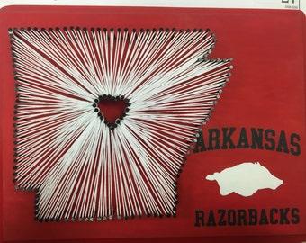 Arkansas Razorbacks String Art
