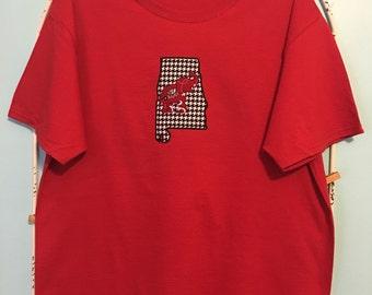 University of Alabama Applique Tshirt- Order the size you need!