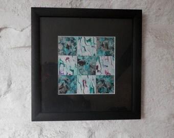 Original Abstract, Green Wall Art, Square Abstract Art. Green Modern Art. Original Artwork
