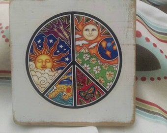 Peace sign with Suns and lots of color